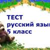 итоговый тест по русскому языку для 5 класса