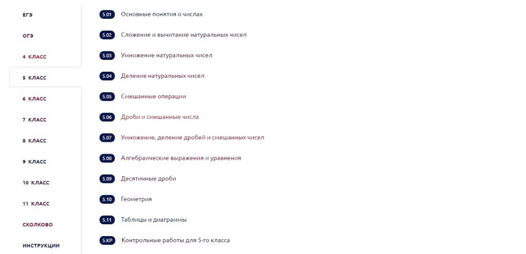 списки темо1маф
